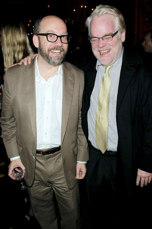 "<div class=""meta ""><span class=""caption-text "">Paul Giamatti and Philip Seymour Hoffman appear at the New York premiere of 'The Ides of March' on Oct. 5, 2011. (Marion Curtis/Startraksphoto.com)</span></div>"