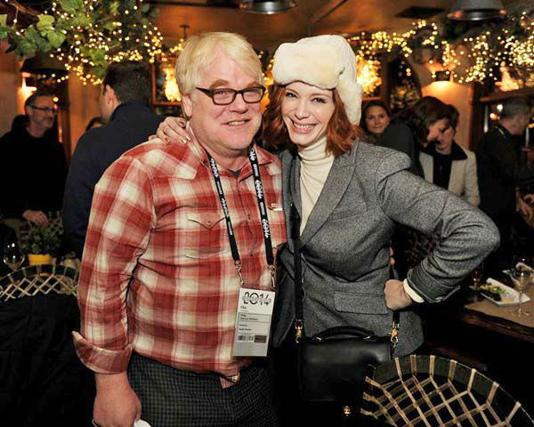 Philip Seymour Hoffman and Christina Hendricks appear at the &#39;God&#39;s Pocket&#39; screening at the Sundance Film Festival in Park City, Utah on Jan. 17, 2014. <span class=meta>(Seth Browarnik&#47;startraksphoto.com)</span>