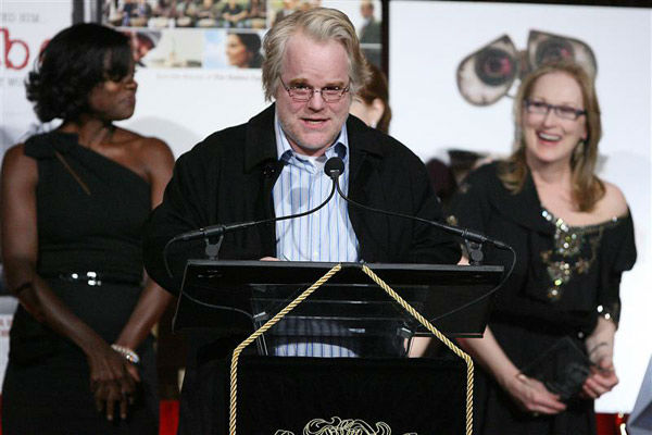 "<div class=""meta ""><span class=""caption-text "">Philip Seymour Hoffman, Meryl Streep and Viola Davis appear at the 2008 National Board of Review of Motion Pictures Awards Gala in New York City on Jan. 15, 2009. (Dave Allocca/Startraksphoto.com)</span></div>"