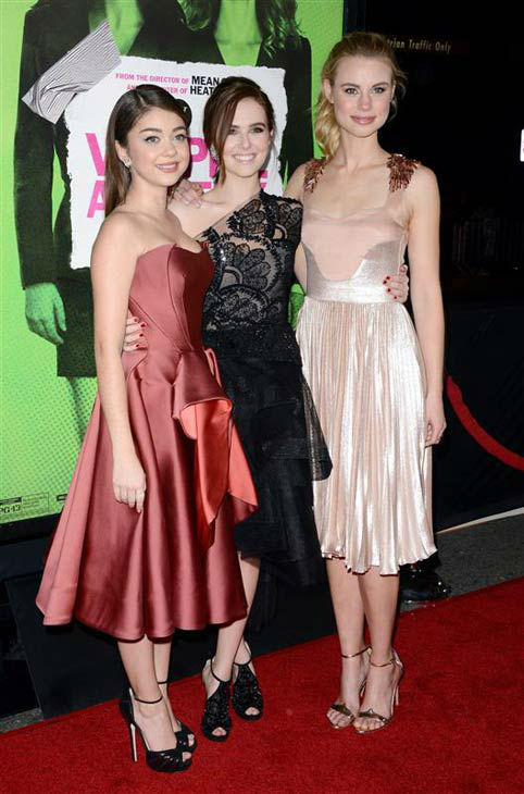 "<div class=""meta ""><span class=""caption-text "">Sarah Hyland, Zoey Deutch and Lucy Fry appear at the Los Angeles premiere of 'Vampire Academy' on Feb. 4, 2014.  (Lionel Hahn/AbacaUSA/startraksphoto.com)</span></div>"