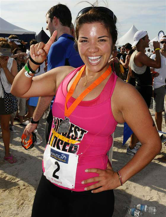 "<div class=""meta ""><span class=""caption-text "">Michelle Aguilar competed on 'The Biggest Loser' during its families-themed sixth season. Originally weighing in at 242 pounds, Aguilar - who was 26 at the time - lost a total of 110 pounds (45.45 percent of her former body weight) and weighed 132 pounds at the time of the finale on Dec. 16, 2008.    Aguilar wrote a book following her win on 'The Biggest Loser,' titled 'Becoming Fearless: My Ongoing Journey of Learning to Trust God.' The book was forwarded by longtime 'Biggest Loser' trainer Jillian Michaels.    (Pictured: Michelle Aguilar appears at the Nautica South Beach Triathlon in Miami Beach, Florida on April 5, 2009.) (Seth Browarnik / startraksphoto.com)</span></div>"