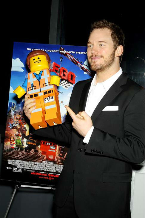 Chris Pratt appears at the New York screening of 'The LEGO Movie' on Feb. 5, 2014.