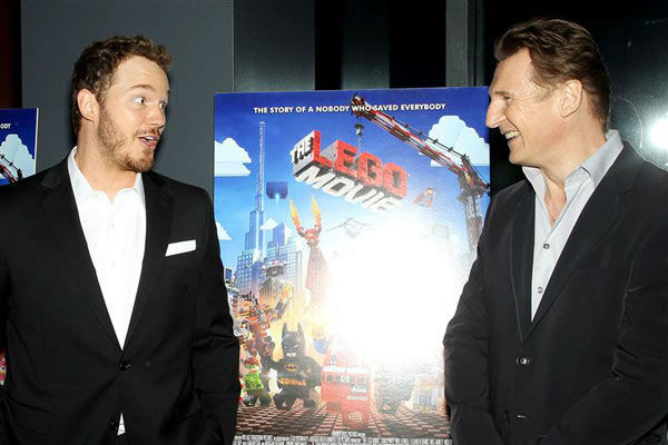 Chris Pratt and Liam Neeson appear at the New York screening of &#39;The LEGO Movie&#39; on Feb. 5, 2014. <span class=meta>(Marion Curtis&#47;Startraksphoto.com)</span>