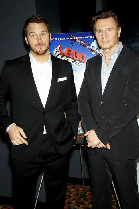 "<div class=""meta ""><span class=""caption-text "">Chris Pratt and Liam Neeson appear at the New York screening of 'The LEGO Movie' on Feb. 5, 2014. (Marion Curtis/Startraksphoto.com)</span></div>"