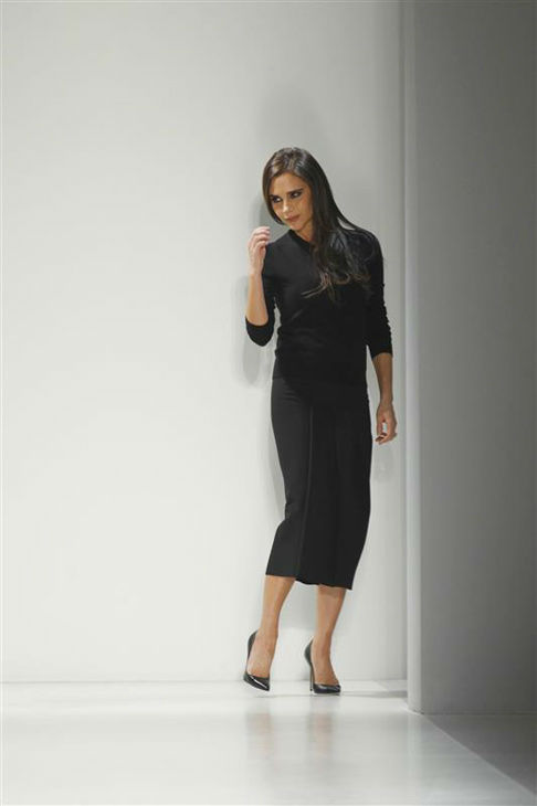 Victoria Beckham appears during her fashion show during 2014 New York F&#47;W Mercedes-Benz Fashion Week on Feb. 9, 2014. <span class=meta>(Gerardo Somoza&#47;startraksphoto.com)</span>
