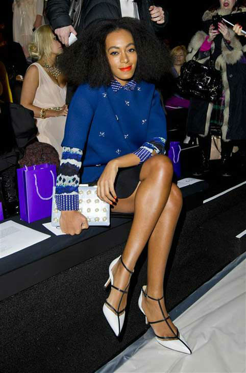 Solange Knowles appears at the Noor by Noor show during Fall 2014 Mercedes-Benz Fashion Week in New York City on Feb. 10, 2014.  <span class=meta>(Matt Crossick &#47; startraksphoto.com)</span>