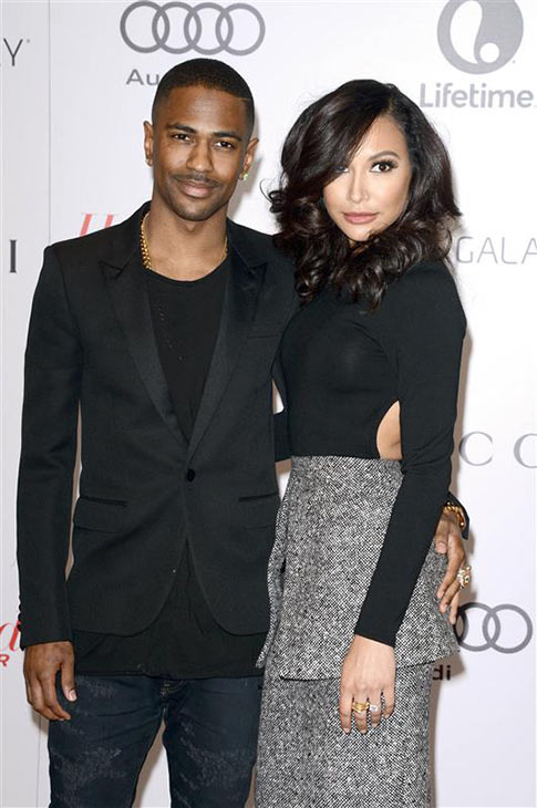 Naya Rivera and Big Sean appear at an event in New York on Feb. 10, 2014.