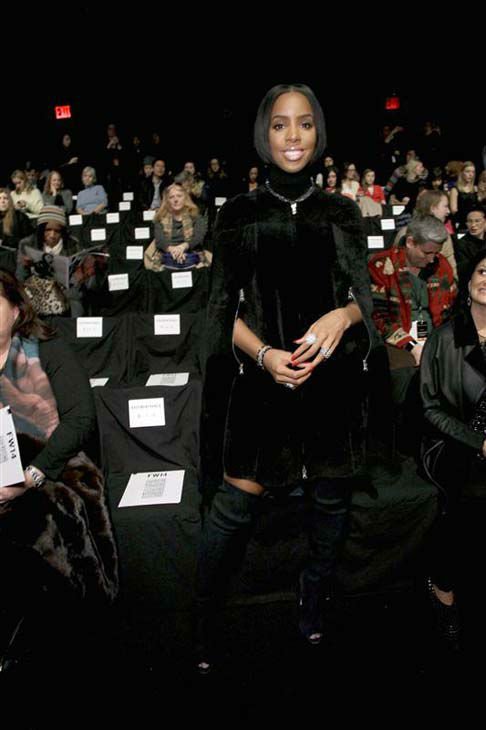 "<div class=""meta image-caption""><div class=""origin-logo origin-image ""><span></span></div><span class=""caption-text"">Kelly Rowland appears at the Kaufmanfranco show during Fall 2014 Mercedes-Benz Fashion Week in New York City on Feb. 12, 2014.  (Gerardo Somoza / startraksphoto.com)</span></div>"