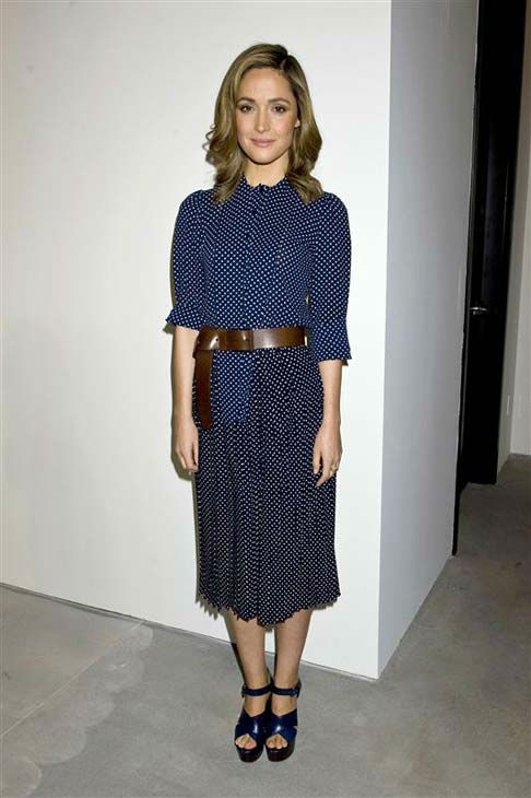 Rose Byrne appears at the Michael Kors show during Fall 2014 Mercedes-Benz Fashion Week in New York City on Feb. 12, 2014.  <span class=meta>(Justin Campbell &#47; startraksphoto.com)</span>