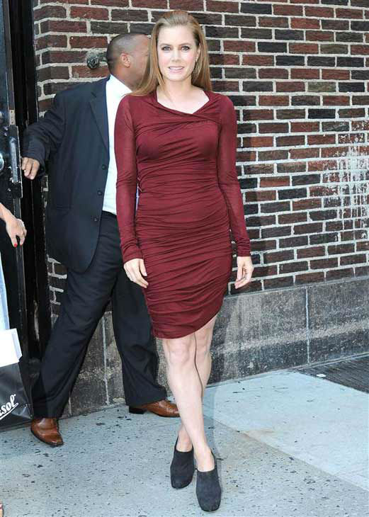 "<div class=""meta image-caption""><div class=""origin-logo origin-image ""><span></span></div><span class=""caption-text"">Amy Adams appears at a taping of 'The Late Show with David Letterman' in New York City on Aug. 28, 2012.  (Humberto Carreno / startraksphoto.com)</span></div>"
