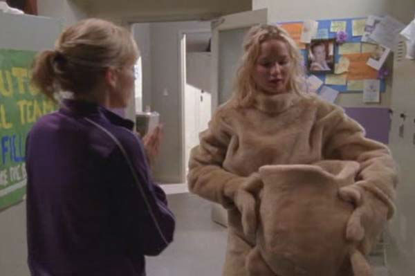 "<div class=""meta image-caption""><div class=""origin-logo origin-image ""><span></span></div><span class=""caption-text"">Jennifer Lawrence appears in the television series 'Monk.' She played a mascot in a 2006 episode titled 'Mr. Monk and the Big Game.' (Photo/USA Network)</span></div>"