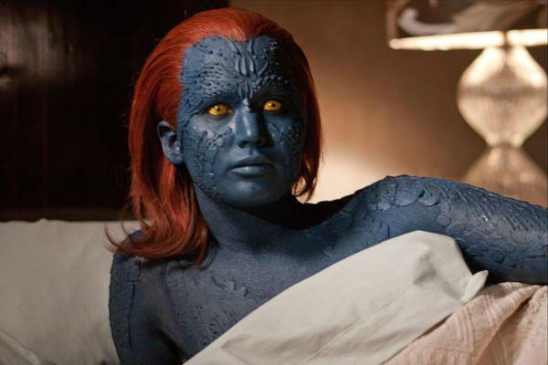 Jennifer Lawrence appears in the 2011 film &#39;X-Men: First Class.&#39; She portrayed the character Raven Darkholme, also known as Mystique. She reprised the role in the 2014 film &#39;X-Men: Days of Future Past.&#39; <span class=meta>(Photo&#47;20th Century Fox)</span>