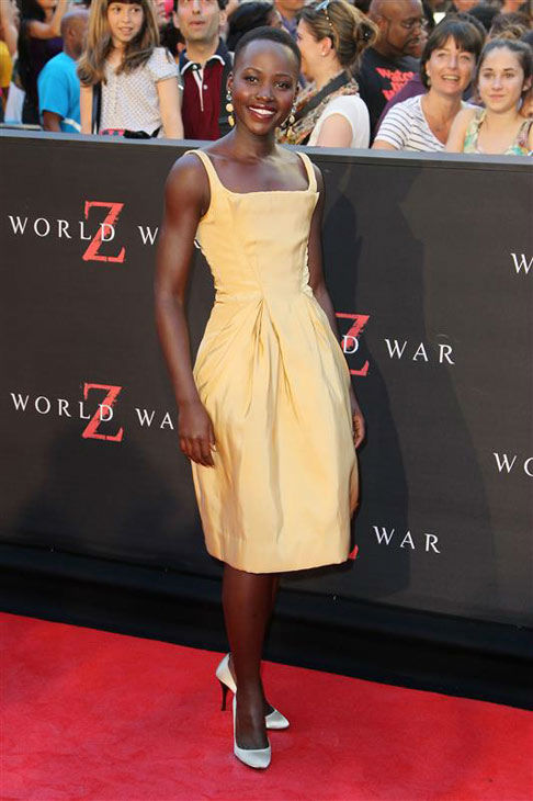 Lupita Nyong&#39;o appears at the New York premiere of &#39;World War Z&#39; on June 17, 2013. <span class=meta>(Amanda Schwab&#47;Startraksphoto.com)</span>
