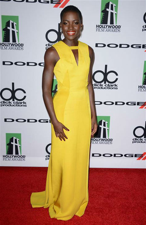 "<div class=""meta ""><span class=""caption-text "">Lupita Nyong'o appears at the 17th annual Hollywood Film Awards on Oct. 21, 2013. (Lionel Hahn/startraksphoto.com)</span></div>"