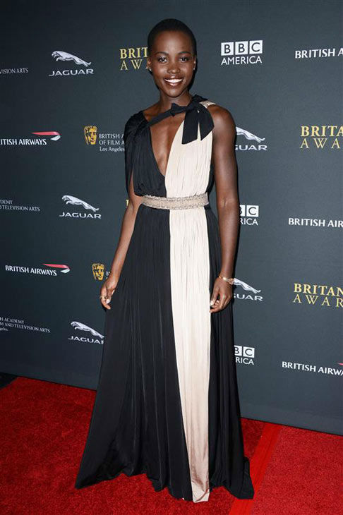 Lupita Nyong&#39;o appears at the 2013 BAFTA LA Jaguar Britannia Awards Presented by BBC America on Nov. 9, 2013. <span class=meta>(Tony DiMaio&#47;startraksphoto.com)</span>
