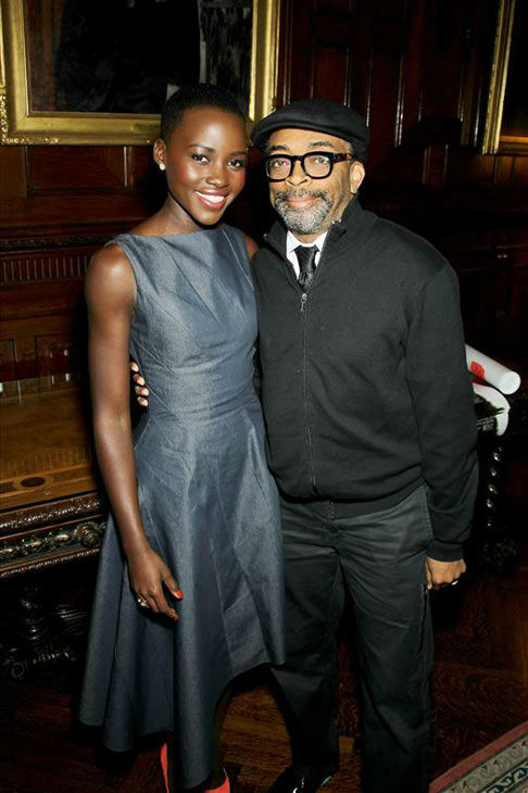 "<div class=""meta image-caption""><div class=""origin-logo origin-image ""><span></span></div><span class=""caption-text"">Lupita Nyong'o and Spike Lee appear at special luncheon honoring '12 Years A Slave' on Nov. 19, 2013. (Marion Curtis/Startraksphoto.com)</span></div>"