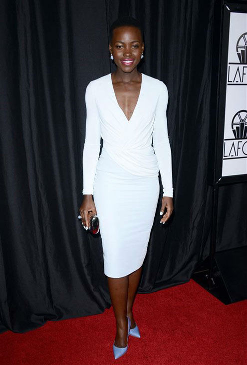 "<div class=""meta ""><span class=""caption-text "">Lupita Nyong'o appears at the 39th Annual Los Angeles Film Critics Association Awards on Jan. 11, 2014. (Lionel Hahn/AbacaUSA/startraksphoto.com)</span></div>"