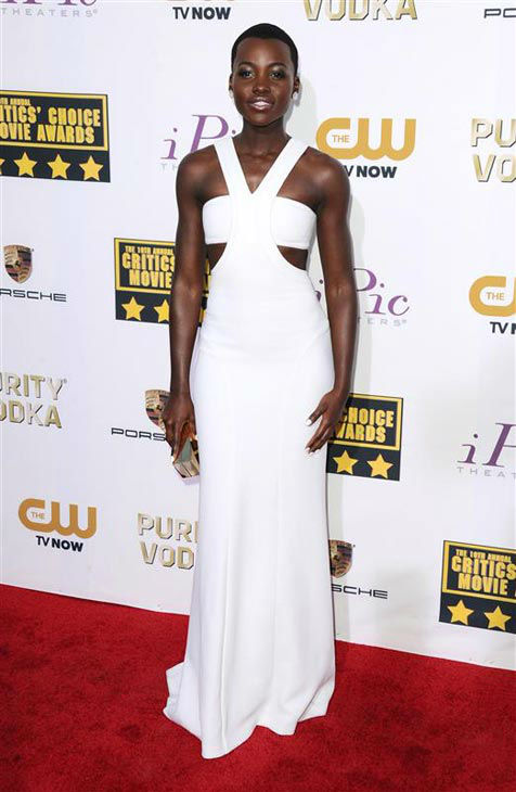 "<div class=""meta ""><span class=""caption-text "">Lupita Nyong'o appears at the 19th Annual Critics' Choice Movie Awards on Jan. 16, 2014. (Sara De Boer/startraksphoto.com)</span></div>"