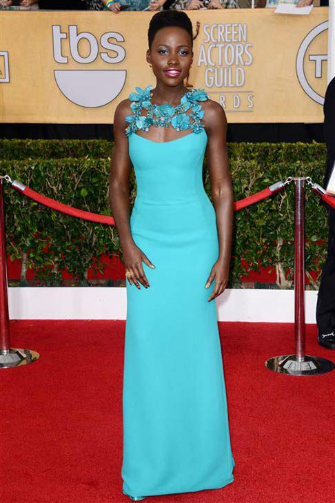 Lupita Nyong&#39;o appears at the 20th Annual Screen Actors Guild Awards in Los Angeles on Jan. 18, 2014. <span class=meta>(Lionel Hahn&#47;AbacaUSA&#47;startraksphoto.com)</span>