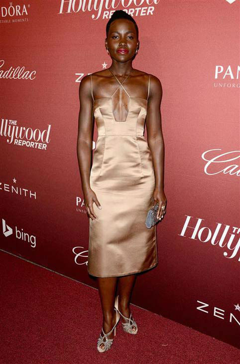 "<div class=""meta ""><span class=""caption-text "">Lupita Nyong'o appears at the Hollywood Reporter 2014 Nominees Night on Feb. 10, 2014. (Lionel Hahn/AbacaUSA/startraksphoto.com)</span></div>"