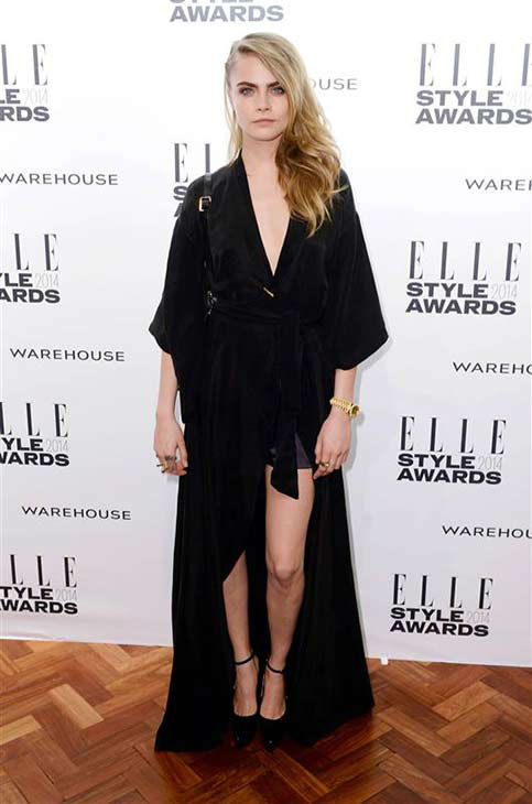 "<div class=""meta ""><span class=""caption-text "">Model Cara Delevingne appears at the 2014 Elle Style Awards in London, England on Feb. 18, 2014.  (Doug Peters / startraksphoto.com)</span></div>"