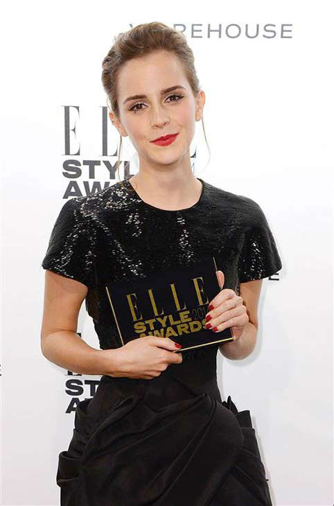 Emma Watson appears at the 2014 Elle Style Awards in London, England on Feb. 18, 2014.  <span class=meta>(Doug Peters &#47; startraksphoto.com)</span>