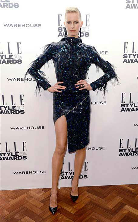 Model Karolina Kurkova appears at the 2014 Elle Style Awards in London, England on Feb. 18, 2014.  <span class=meta>(Doug Peters &#47; startraksphoto.com)</span>