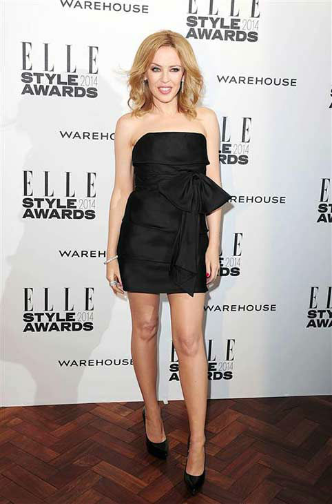 Kylie Minogue appears at the 2014 Elle Style Awards in London, England on Feb. 18, 2014.  <span class=meta>(Ian West &#47; startraksphoto.com)</span>