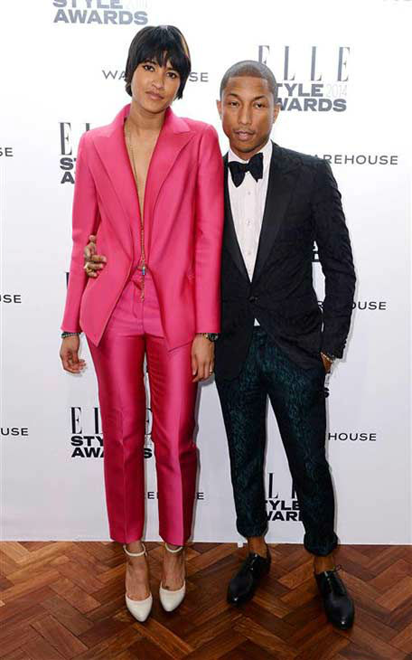 Pharrell Williams and wife Helen Lasichanh appear at the 2014 Elle Style Awards in London, England on Feb. 18, 2014.  <span class=meta>(Doug Peters &#47; startraksphoto.com)</span>