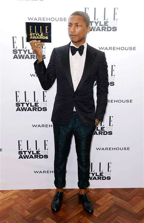 "<div class=""meta image-caption""><div class=""origin-logo origin-image ""><span></span></div><span class=""caption-text"">Pharrell Williams appears at the 2014 Elle Style Awards in London, England on Feb. 18, 2014.  (Doug Peters / startraksphoto.com)</span></div>"
