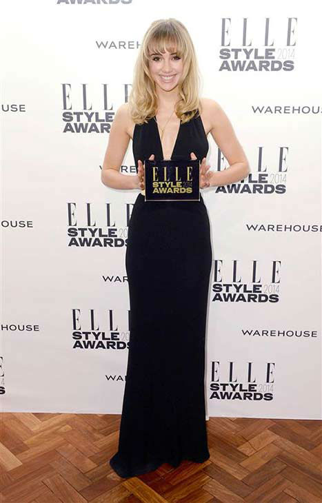 Suki Waterhouse &#40;girlfriend of actor Bradley Cooper&#41; appears at the 2014 Elle Style Awards in London, England on Feb. 18, 2014.  <span class=meta>(Doug Peters &#47; startraksphoto.com)</span>