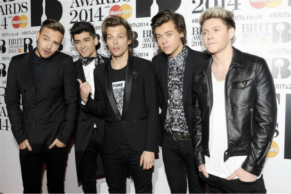 "<div class=""meta ""><span class=""caption-text "">One Direction members Zayn Malik, Harry Styles, Louis Tomlinson, Liam Payne and Niall Horan appear at the 2014 BRIT Awards in London on Feb. 19, 2014. (Richard Young / REX / Startraksphoto.com)</span></div>"