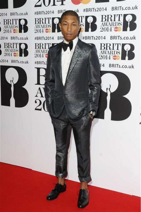 "<div class=""meta ""><span class=""caption-text "">Pharrell Williams appears at the 2014 BRIT Awards in London on Feb. 19, 2014. (Richard Young / REX / Startraksphoto.com)</span></div>"