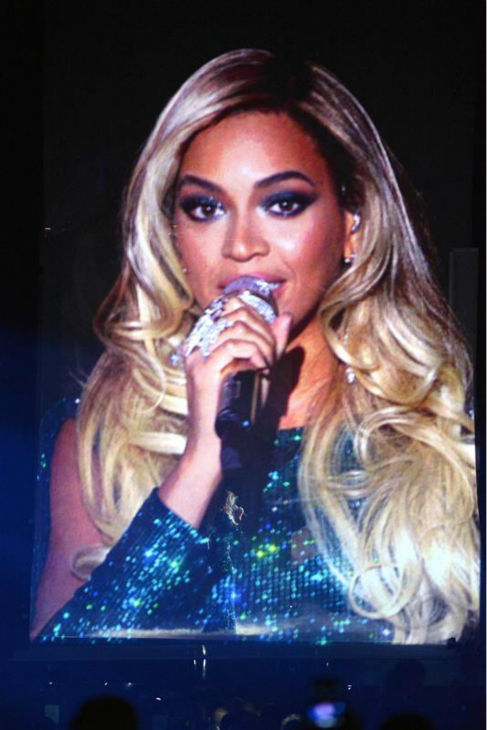 Beyonce performs the song 'XO' from her 2013 album 'Beyonce' at the 2014 BRIT Awards in London on Feb. 19, 2014.