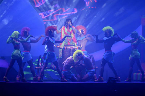 Katy Perry performs her song &#39;Dark Horse&#39; from her 2013 album &#39;Prism&#39; at the 2014 BRIT Awards in London on Feb. 19, 2014. <span class=meta>(Richard Young &#47; REX &#47; Startraksphoto.com)</span>