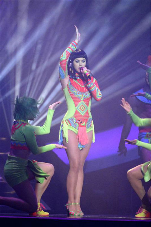 "<div class=""meta image-caption""><div class=""origin-logo origin-image ""><span></span></div><span class=""caption-text"">Katy Perry performs her song 'Dark Horse' from her 2013 album 'Prism' at the 2014 BRIT Awards in London on Feb. 19, 2014. (Richard Young / REX / Startraksphoto.com)</span></div>"
