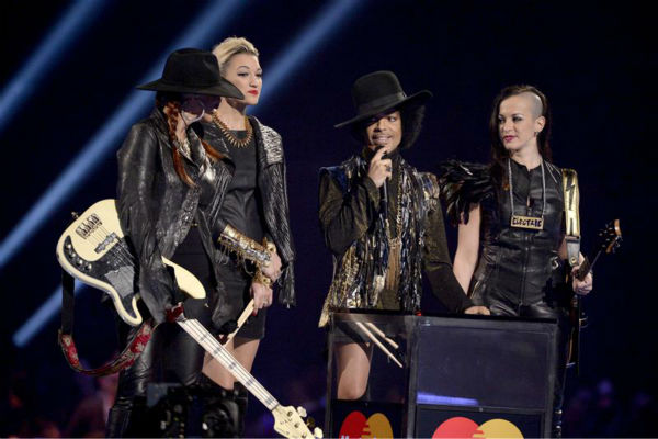 "<div class=""meta image-caption""><div class=""origin-logo origin-image ""><span></span></div><span class=""caption-text"">Prince appears on stage at the 2014 BRIT Awards in London on Feb. 19, 2014. He and his band 3RDEYEGIRL presented the award for Best British Female Artist to singer Ellie Goulding. (Richard Young / REX / Startraksphoto.com)</span></div>"