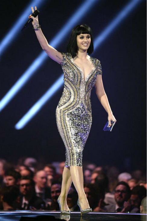 Katy Perry appears on stage at the 2014 BRIT Awards in London on Feb. 19, 2014. <span class=meta>(Richard Young &#47; REX &#47; Startraksphoto.com)</span>