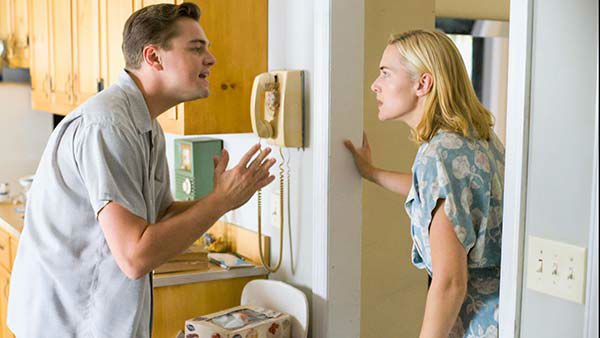 Leonardo DiCaprio appears in the 2008 film &#39;Revolutionary Road,&#39; reuniting with &#39;Titanic&#39; co-star Kate Winselt. He played the character Frank Wheeler. <span class=meta>(Paramount Vantage)</span>
