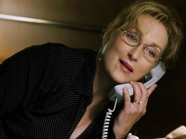 Meryl Streep appears in the 2002 film &#39;Adaptation.&#39; She was nominated for an Oscar in the Best Supporting Actress category for her role as Susan Orlean. <span class=meta>(Columbia Pictures)</span>