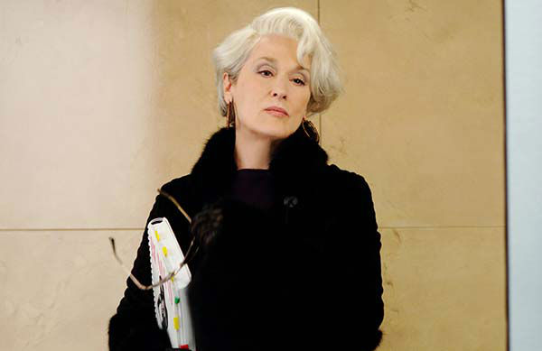 Meryl Streep appears in the 2006 film &#39;The Devil Wears Prada.&#39; She was nominated for an Oscar in the Best Actress category for her role as Miranda Priestly. <span class=meta>(20th Century Fox)</span>