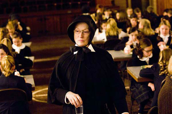 Meryl Streep appears in the 2008 film &#39;Doubt.&#39; She was nominated for an Oscar in the Best Actress category for her role as Sister Aloysius Beauvier. <span class=meta>(Miramax Films)</span>