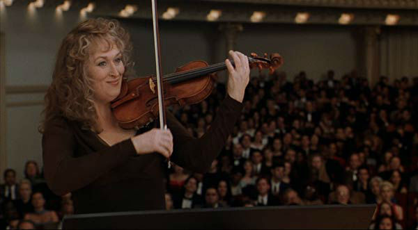 Meryl Streep appears in the 1999 film &#39;Music of the Heart.&#39; She was nominated for an Oscar in the Best Actress category for her role as Roberta Guaspari. <span class=meta>(Miramax Films)</span>