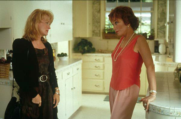 Meryl Streep appears in the 1990 film &#39;Postcards from the Edge,&#39; alongside co-star Shirley MacLaine She was nominated for an Oscar in the Best Actress category for her role as Suzanne Vale. <span class=meta>(Columbia Pictures)</span>