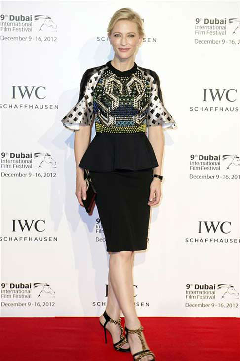 Cate Blanchett appears at IWC Watches Gala in Dubai on Dec. 10, 2012. <span class=meta>(Ammar Abd Rabbo &#47; startraksphoto.com)</span>