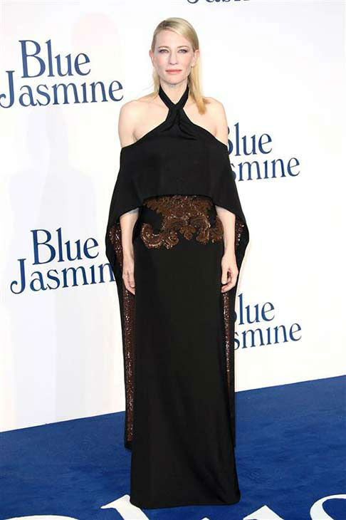 Cate Blanchett appears at the London premiere of the film &#39;Blue Jasmine&#39; on Sept. 17, 2013. <span class=meta>(Abaca &#47; startraksphoto.com)</span>