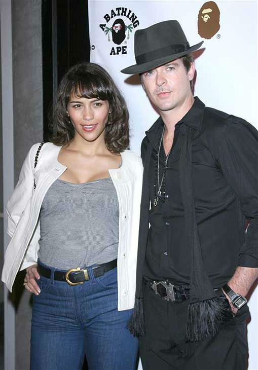 Robin Thicke and Paula Patton appear at the Bapestore opening in Los Angeles, California on April 23, 2008.  <span class=meta>(Jen Lowery &#47; startraksphoto.com)</span>