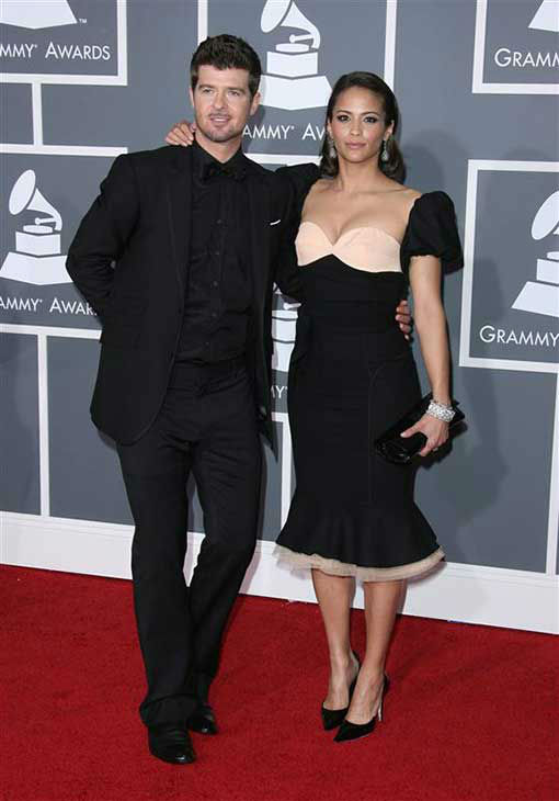 Robin Thicke and Paula Patton appear at the 51st annual Grammy Awards in Los Angeles, California on Feb. 8, 2009.  <span class=meta>(Jen Lowery &#47; startraksphoto.com)</span>