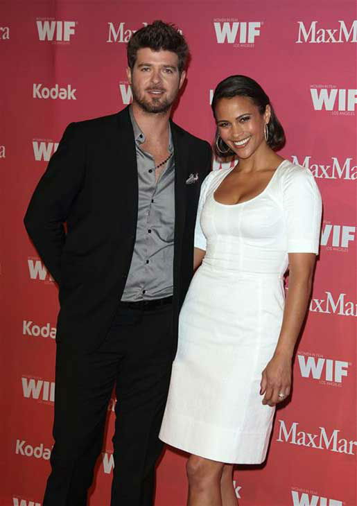 Robin Thicke and Paula Patton appear at the Women in Film 2009 Crystal and Lucy Awards in Los Angeles, California on June 12, 2009.  <span class=meta>(Jen Lowery &#47; startraksphoto.com)</span>