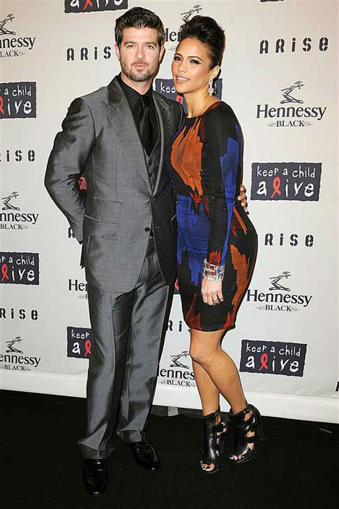 Robin Thicke and Paula Patton appear at the Keep A Child Alive Black Ball in New York City on Oct. 15, 2009.  <span class=meta>(Humberto Carreno &#47; startraksphoto.com)</span>